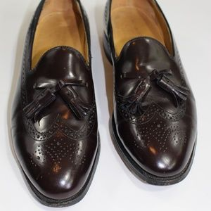 Johnson & Murphy Optima brown wing tip loafers